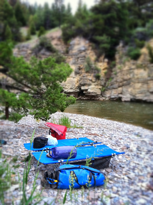 river camping gear